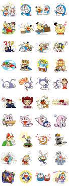 doraemon friends fujiko f fujio sticker for line whatsapp