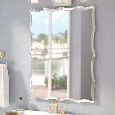 stylish frameless rectangular mirror