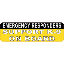 10x3 Support K9 On Board Car Bumper Sticker Vinyl Truck Window Decal Walmart Com Walmart Com