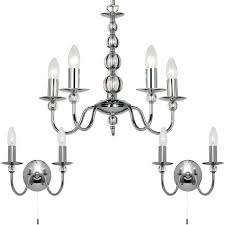 2x matching twin wall light chrome