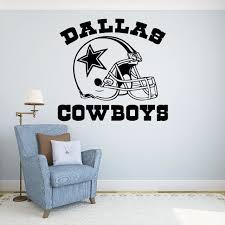 Amazon Com Dallas Cowboys Vinyl Decal Sticker Wall Football Logo Nfl Sport Home Interior Removable Decor 22 High X 24 Wide Sports Outdoors