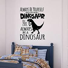 Dinosaurs Set Vinyl Wall Decals Children Play Boys Room Decor Lettering Words