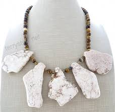 chunky necklace white howlite necklace