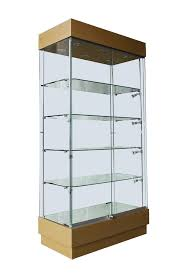 1000mm wooden full glass display cabinets