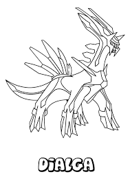 Pokemon Dialga Coloring Pages Ideas Kleurboek Kleurplaten Kleuren
