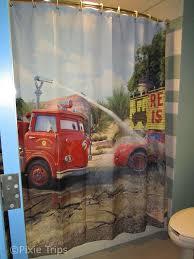 Art Of Animation Cars Family Suite Bathroom Shower Curtain So Cute Pixietripstravel Com Disney Cars Room Disney Bedrooms House Color Schemes