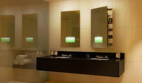 lighted recessed medicine cabinet