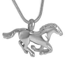 horse urn necklace for ashes
