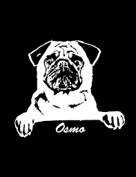 Pug Pug Decal Pug Car Decal Personalized Dog Decal Etsy