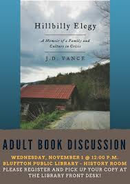 Adult Book Discussion - Hillbilly Elegy ...