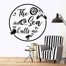 Amazon Com The Sea Calls Me Moana Disney Princessvinyl Wall Art Sticker Decal Moana Disney Themed Wall Sticker For Girls Boy Kid Room Design Bedroom Nursery Kindergarten House Decoration Size 10x10 Inch