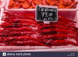 Seafood stand selling big fresh ...