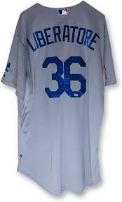 Adam Liberatore Team Issue Jersey Dodgers Road Gray 2015#36 MLB ...