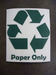 5 Paper Only Green Recycling Vital Data Trash Bin Receptacle Decal Sticker Homegaragegasstationmarkettrash Restau Green Recycling Recycling Decals Stickers