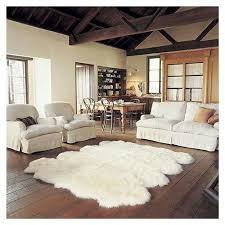 large faux sheepskin rug with images