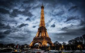 تحميل خلفيات برج إيفل باريس الربيع مساء سيتي سكيب معلم فرنسا