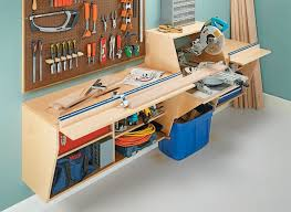Wall Mounted Miter Station Woodworking Project Woodsmith Plans