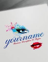 logo with free watercolor makeup logo maker
