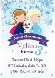 Frozen Birthday Invitation Snowflake Birthday Invitation