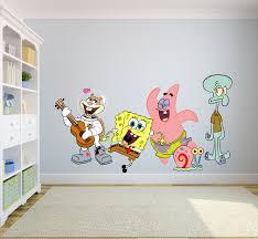 Spongebob Squarepants Complete Cast Happy Wall Graphic Decal Sticker Sticker Mural Baby Kids Room Bedroom Nursery Kindergarten House Home Design Wall Art Decor Removable Peel And Stick Mural 10x8 Inch Walmart Com