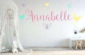 Butterfly Name Decal Girls Room Decal Girls Room Decor Nursery Decorations Custom Kids Roo Girls Room Decals Butterfly Room Decor Kids Room Wall Decals