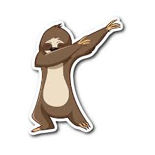 Cute Funny Dancing Sloth Car Bumper Decal Sticker Happytailsclothing