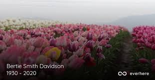 Bertie Smith Davidson Obituary (1930 - 2020) | Livingston, Tennessee