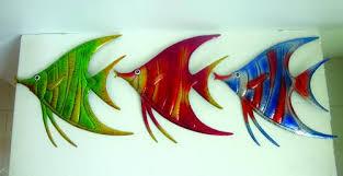 enchanted garden metal fish wall art