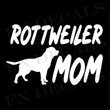Rottweiler Mom High Quality Vinyl Decal Dog Sticker For Cars Wall Laptop Windows Ebay