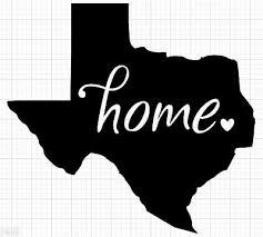 Texas Tx Home Vinyl Decal Sticker Fits Yeti Tumbler Rtic Ozark Car Window Wall Ebay