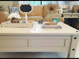 diy chalk paint coffee table makeover