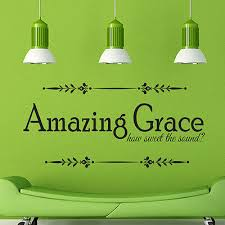 Amazing Grace How Quote Vinyl Wall Decal Sticker Art Words Home Decor 10 49 Picclick