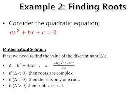 roots of quadratic equation in matlab