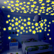 50pcs Kids Bedroom Energy Storage Fluorescent Glow In The Dark Stars Wall Stickers Baby Rooms Home Party Decoration Free Glue Kids Bedroom Glow In Dark Starsglow In Dark Stickers Aliexpress