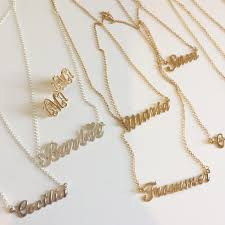 customized large name necklace my