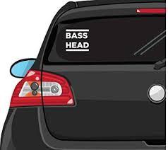 Amazon Com Yws Vinyl Sticker Decal Bass Head Edm Sticker Laptop Car Truck Window Bumper Notebook Vinyl Decal Sma5872 Home Kitchen
