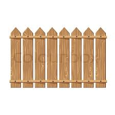 Wooden Fence Vector Illustration Stock Vector Colourbox