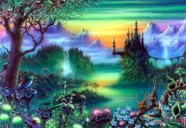 magic castle fantasy abstract