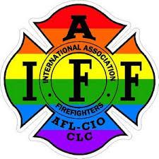 Rainbow Iaff International Association Firefighters Vinyl Sticker At Sticker Shoppe