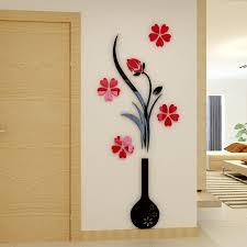 Vase Plum Flower Acrylic 3d Wall Stickers Living Room Sofa Bedroom Diy Art Wall Decor Tv Backdrop Water Proof Decoration Acrylic Wall Sticker Wall Stickerwall Sticker Living Room Aliexpress
