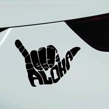 Aloha Shaka Car Sticker Surf Sun Sea