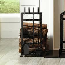 harper log holder 4 piece fireplace