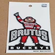Brutus Buckeye Ohio State Car Stickers Truck Decal Auto Fast Usa Shipping Ebay