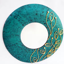 Ada Green Patina Round Mirror - Decorative Mirror - buy online at Fanusta -  Fanusta