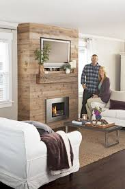 fireplace feature wall