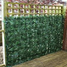Artificial Ivy Leaf Hedge Privacy Screening Garden Fence 2m High X 3m Long For Sale Online Ebay