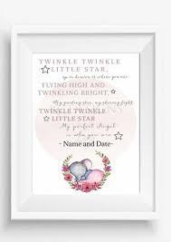 personalised baby memorial gift print