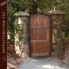 rustic garden gate custom handcrafted
