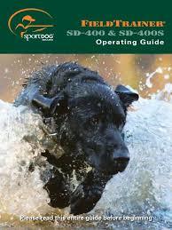 Sportdog Sd 400 Manual Dog Training Collars