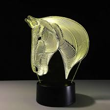 Horse 3d Illusion Football Remote Control Led Desk Table Night Light 7 Color Touch Lamp Kids Family Holiday Gift Home Room Lamp Touch Lamp Room Lampnight Light Aliexpress